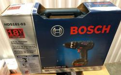 Bosch HDS18103220 220V 18V Drill/Driver 1.5 and 3.0Ah Batteries