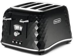 DeLonghi DECTJ4003.BK 4-Slice Capacity Toaster 220-240 Hz/ 50-60 Hz