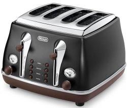 DeLonghi DECTOV4003.BK 4-Slice Capacity Toaster 220-240 Hz/ 50-60 Hz