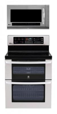 LG LDE3017ST, LMHM2017ST Oven Range & Over the Range Microwave Set FACTORY REFURBISHED (FOR USA )