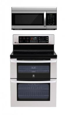 LG LDE3017ST, LMV1683ST Oven Range & Over the Range Microwave Set FACTORY REFURBISHED (FOR USA )