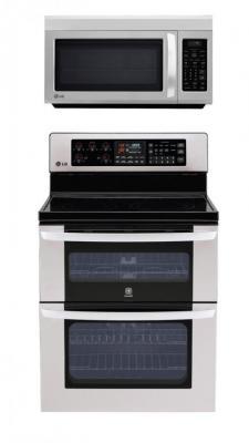 LG LDE3017ST, LMV1813ST Oven Range & Over the Range Microwave Set REFURBISHED (FOR USA )