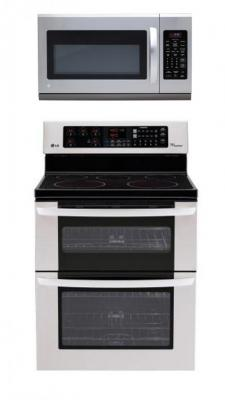 LG LDE3035ST, LMH2016ST Oven Range & Over the Range Microwave Set FACTORY REFURBISHED (FOR USA )