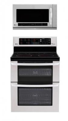 LG LDE3035ST, LMHM2017ST Oven Range & Over the Range Microwave Set FACTORY REFURBISHED (FOR USA )
