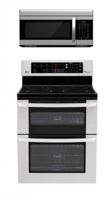 LG LDE3035ST, LMV1683ST Oven Range & Over the Range Microwave Set FACTORY REFURBISHED (ONLY FOR USA)