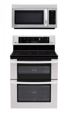 LG LDE3035ST, LMV1813ST Oven Range & Over the Range Microwave Set FACTORY REFURBISHED (ONLY FOR USA)