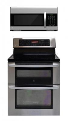 LG LDE3037ST, LMV1683ST Oven Range & Over the Range Microwave Set FACTORY REFURBISHED (ONLY FOR USA)