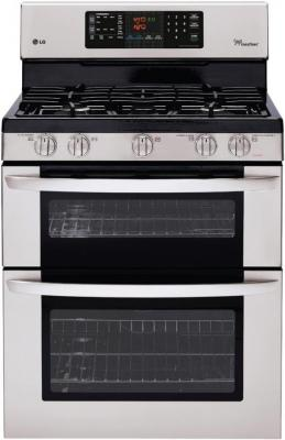 LG LDG3035ST 6.1 cu. ft. Gas Double Range with 17,000 BTU SuperBoil Burner and EasyClean Stainless Steel  FACTORY REFURBISHED (ONLY FOR USA)