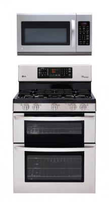 LG LDG3035ST / LMH2016ST Gas Oven Range & Over the Range Set FACTORY REFURBISHED (FOR USA)