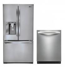 LG LFX29945ST, LDF7551ST Door-in-Door Refrigerator & Dishwasher Set FACTORY REFURBISHED (ONLY FOR USA)