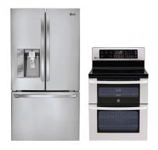 LG LFX31925ST, LDE3017ST Refrigerator and Double Oven Range Set FACTORY REFURBISHED (FOR USA)