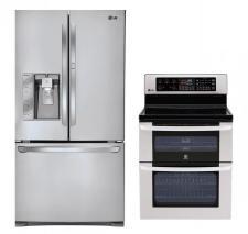 LG LFX31945ST, LDE3017ST Door-in-DoorRefrigerator and Oven Range Set FACTORY REFURBISHED (FOR USA)
