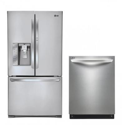 LG LFX31945ST, LDF7551ST Door-in-Door Refrigerator & Dishwasher Set FACTORY REFURBISHED (ONLY FOR USA)