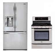 LG LFX31925ST, LRE3083ST French Door Refrigerator and Oven Range Set FACTORY REFURBISHED (ONLY FOR USA)