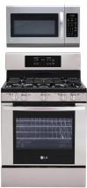 LG LRG3091ST, LMH2016ST Oven Range & Over the Range Microwave Set FACTORY REFURBISHED (ONLY FOR USA)