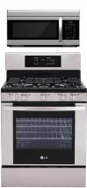LG LRG3091ST, LMV1683ST Oven Range & Over the Range Microwave Set FACTORY REFURBISHED (ONLY FOR USA)