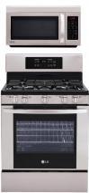 LG LRG3091ST, LMV1813ST Oven Range & Over the Range Microwave Set FACTORY REFURBISHED (ONLY FOR USA)
