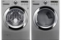 LG WM3250HVA / DLGX3251V Steam Washer & Gas Dryer Set FACTORY REFURBISHED (FOR USA)