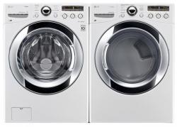 LG WM3250HWA / DLGX3251W Steam Washer & Gas Dryer Set FACTORY REFURBISHED (FOR USA)