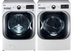 LG WM8000HWA / DLEX8000W Steam Washer & Electric Dryer Set FACTORY REFURBISHED (FOR USA)