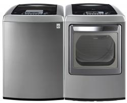 LG WT1201CV / DLEY1201V Top Load Washer & Electric Dryer Set FACTORY REFURBISHED (ONLY FOR USA)