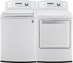 LG WT4970CW / DLE4970W Washer & Electric Dryer Set FACTORY REFURBISHED (FOR USA)