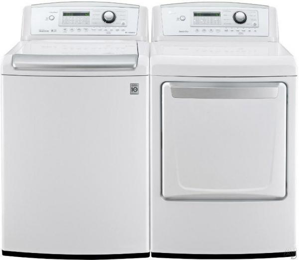 lg wt4970cw dle4970w washer u0026 electric dryer set factory refurbished for usa