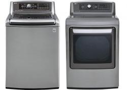 LG WT5680HVA / DLEX5680HVA Steam Washer & Electric Dryer Set FACTORY REFURBISHED (FOR USA)