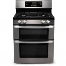 LG LDG3011ST 6.1 cu. ft. Gas Double Range with 4 Sealed Burners Self-Clean Automatic Shut-Off Stainless Steel FACTORY REFURBISHED (FOR USA)