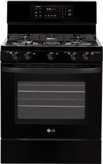 LG LRG3093SB 5.4 cu. ft. Gas Range with 5 Burners SuperBoil Burner Flat Broil Heater Storage Black FACTORY REFURBISHED (FOR USA )