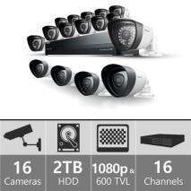 Samsung SDH-P5081SDB - 16ch Hybrid Pack w/ 4 Full HD& 12 SD Bullet Cameras 110-220 volts