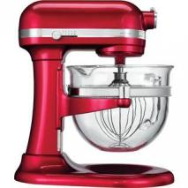 KITCHEN AID 5KSM6521XECA Mixer 500 Watt  Motor - 6 Qt. Glass Bowl 220 volts CANDY APPLE