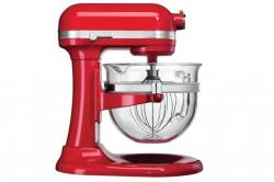 KITCHEN AID 5KSM6521XEER Mixer 500 Watt Motor - 6 Qt. Glass Bowl 220 volts RED