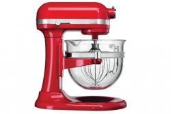 KITCHEN AID 5KSM6521XEER Mixer 500 Watt Motor - 6 Qt. Glass Bowl 220 volts RED