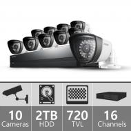 Samsung SCA-P5161N - 16 Channel Complete Security Camera System Package 110-220 VOLTS
