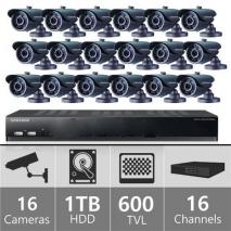 Samsung SDS-V5080F 16 Ch Security Camera System 110-220 volts