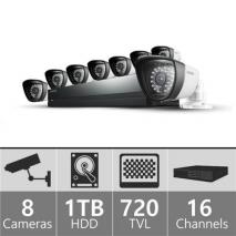 Samsung SDS-P5082 16ch 960H Security Camera System 110-220 volts
