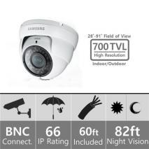 Samsung SDC-7440DCN 960H Weatherproof Dome Camera BNC 110-220 volts