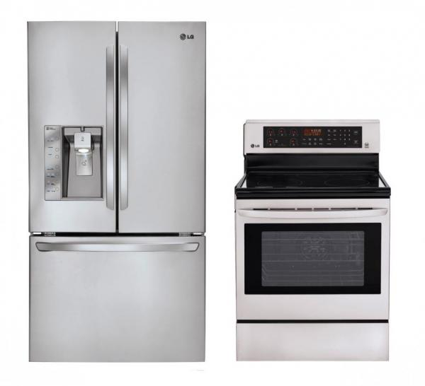 lg lfx31925st lre3083st french door and oven range set factory refurbished only for usa