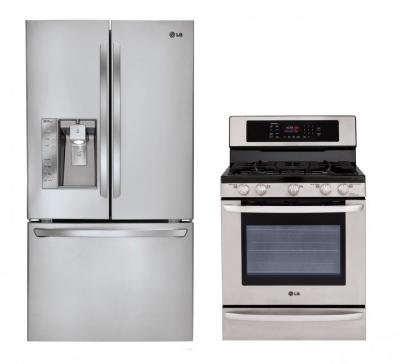 LG LFX31925ST, LRG3095ST Refrigerator and Gas Oven Range Set FACTORY REFURBISHED FOR USA