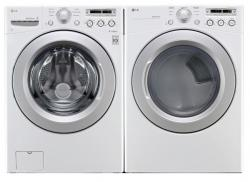 LG WM3050CW / DLG3051W Front Load Washer & Gas Dryer Set FACTORY REFURBISHED (ONLY FOR USA)