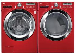 LG WM3250HRA / DLEX3250R Red Steam Washer & Dryer Set FACTORY REFURBISHED (FOR USA)