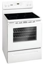Frigidaire by Electrolux MFF3025RW 76cm Self Clean Ceramic Glass Cooking Range 220-240 Volt/ 50 Hz