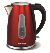 Morphy Richards 43904 Accents Jug Kettle 1.7 Litres 3 KW Red 220 240 volts
