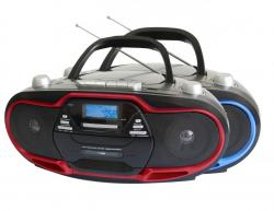 Super Sonic SC-745 PORTABLE MP3/CD PLAYER WITH USB/AUX INPUTS, CASSETTE RECORDER & AM/FM RADIO 110-220 volts