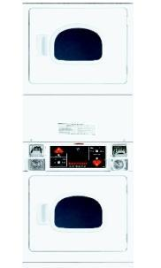Speed Queen SSE917/SSG919 Stack Dryer Coin Slide-Operated for 220 Volts 50 Hz