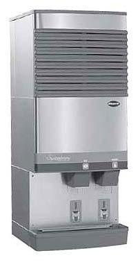 Follett F25CI400A/W-L-Int Countertop ice maker located behind splash panel for 115V, 60Hz