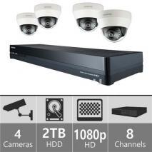 Samsung SDH-P4041D - 16ch Hybrid pack w/ 4 HD Dome Cameras 110-220 volts