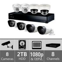 Samsung SDH-P4041HH - 8ch Hybrid Variety Pack w/ 4 HD & 4 SD Cameras 110-220 volts