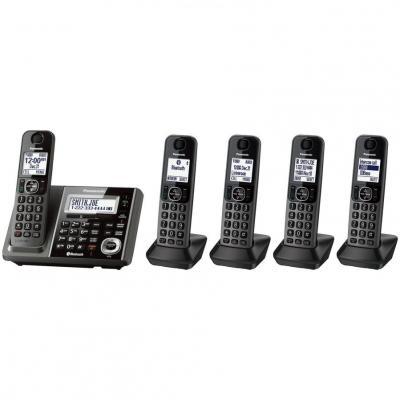 Panasoinc KX-TG585SK 5 Handset Link2Cell Cordless Phone 110-220 volts